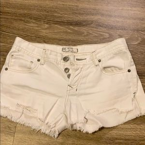 Free people shorts denim white